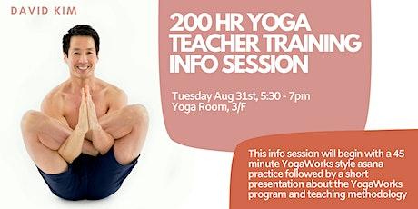 YogaWorks Teacher Training Info Session with David Kim tickets