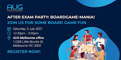 [AUG Melbourne] After Exam Party: Boardgame-Mania tickets