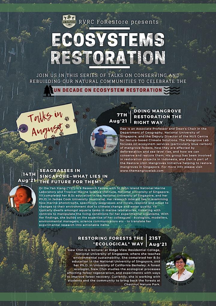 Ecosystems Restoration Talks Series image