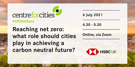 What role should cities play in achieving a carbon neutral future? tickets