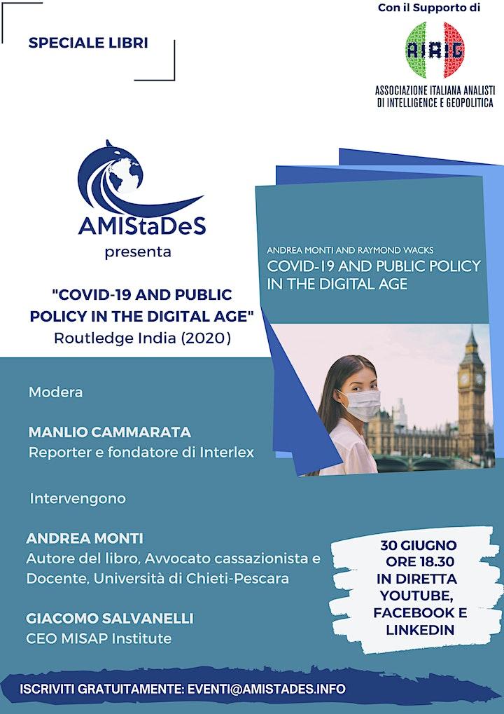 """Immagine Presentazione del Libro """"COVID-19 and Public Policy in the Digital Age"""""""