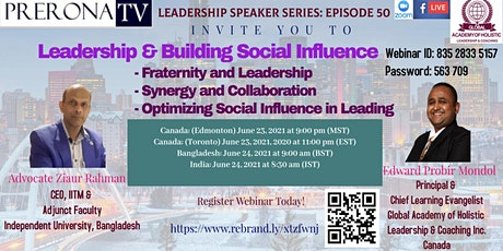 Leadership and Building Social Influence tickets