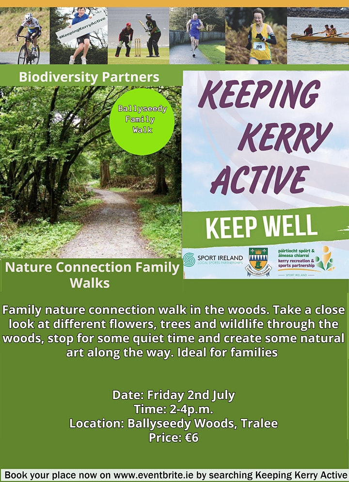 Keeping Kerry Active - Nature Connection Walk (Ballyseedy Forest) image