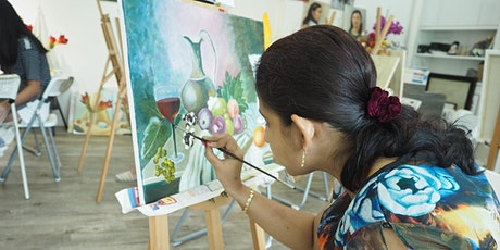 INTRO COURSE: Oil Painting 8 Sessions Course for Two - AZ @ Paya Lebar tickets