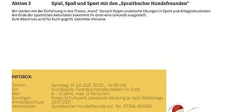 """Spiel, Spaß und Sport mit den """"Spraitbacher Hundefreunden"""" billets"""