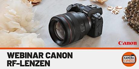 Webinar Canon - RF Lenzen tickets