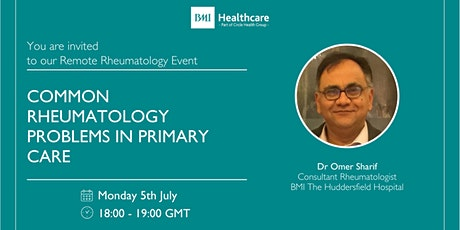 Remote Rheumatology Event with Dr Omer Sharif tickets