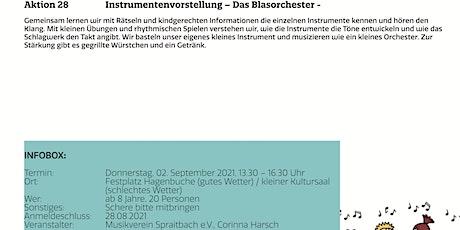 Instrumentenvorstellung - Das Blasorchester - Tickets