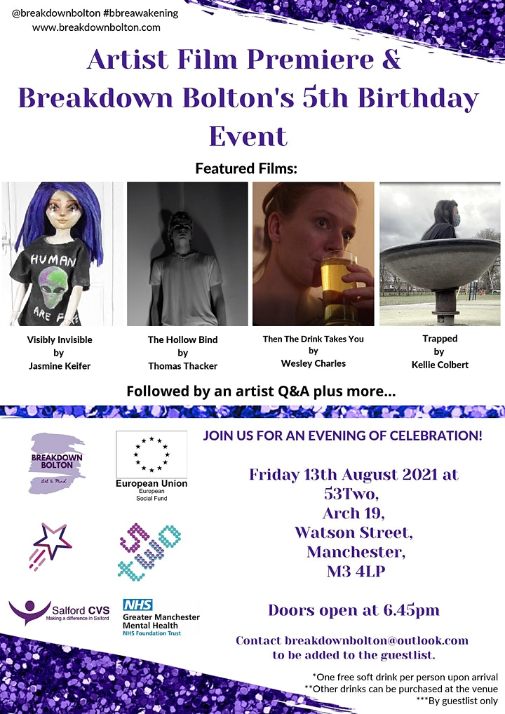 Artist Film Premiere and Breakdown Bolton's 5th Birthday Event at 53Two image