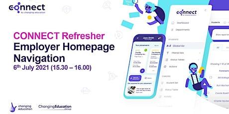 CONNECT Refresher Employer Homepage Navigation ingressos