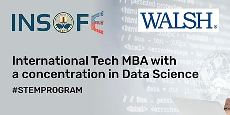 Study & build career in USA with International Tech MBA in Data Science tickets