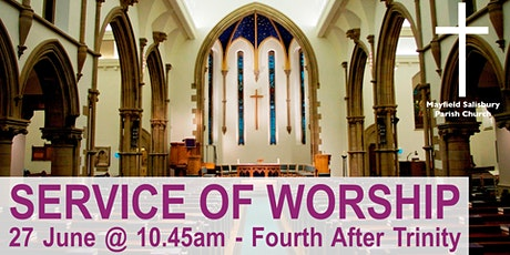 Service of Worship 10.45am  --  27 June 2021 -- Note: New Capacity Rules. tickets