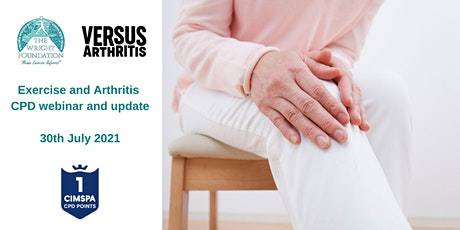 Exercise and Arthritis CPD webinar and update tickets