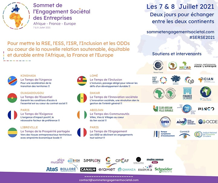 Image pour Sommet de l'Engagement Sociétal des Entreprises Afrique-France-Europe