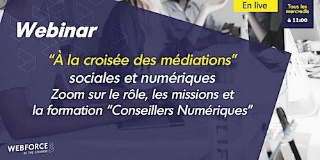 """Webinar de décryptage """"À la croisée des médiations"""" sociales et numériques billets"""
