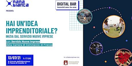 Digital Bar: Hai un'idea imprenditoriale? Inizia dal Servizio Nuove Imprese biglietti