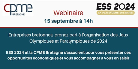 PME TPE bretonnes, prenez part à l'organisation des JO & Paralympiques 2024 billets