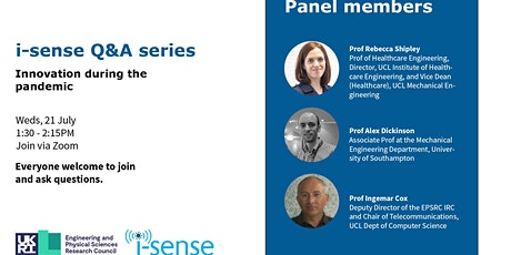 i-sense Q&A series: Innovation during the pandemic tickets