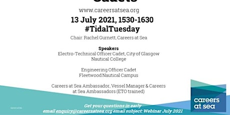 13 July 2021 | Careers at Sea with Engineering Officer Cadets tickets