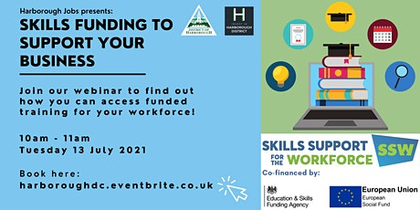 Harborough Jobs: Skills Funding to Support Your Business tickets