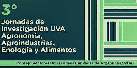 3º Jornadas Investigación Agronomía, Agroindustrias, Enología y Alimentos entradas