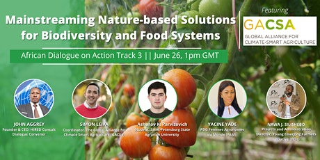 Mainstreaming Nature-based Solutions for Biodiversity and Food Systems tickets