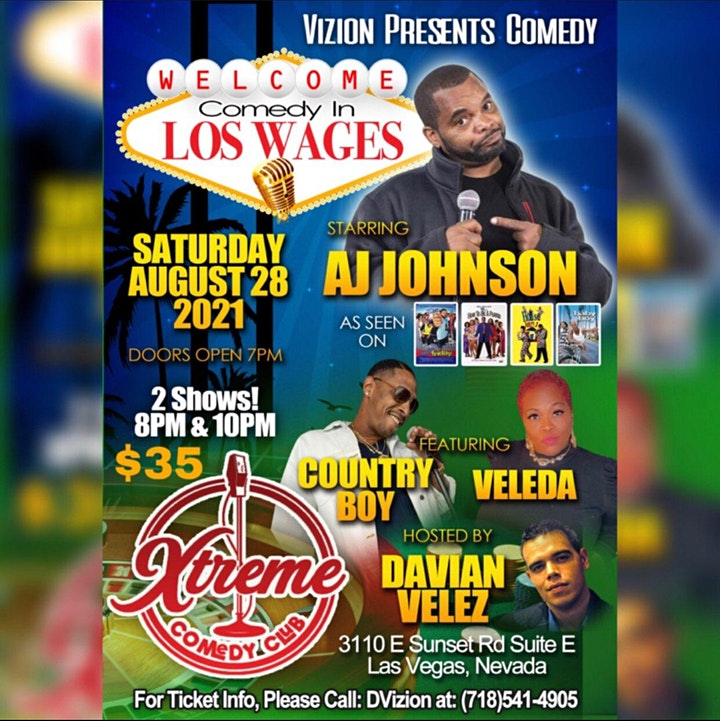 Vizion Presents Comedy in Los Wages image