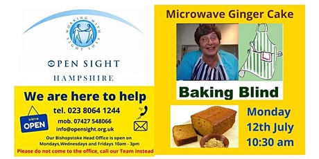 Baking session for Visually Impaired people Ginger Cake tickets