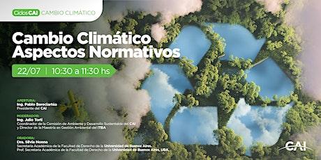 #CiclosCAI: Cambio Climático, Aspectos Normativos entradas