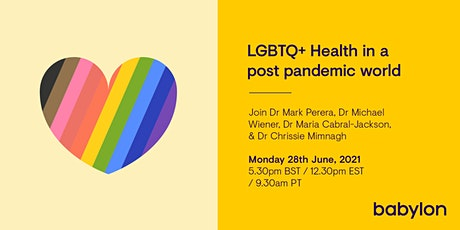 LGBTQ+ Health in a post pandemic world tickets