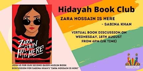 """Hidayah Queer Book Club - """"Zara Hossein is Here"""" by Sabina Khan tickets"""