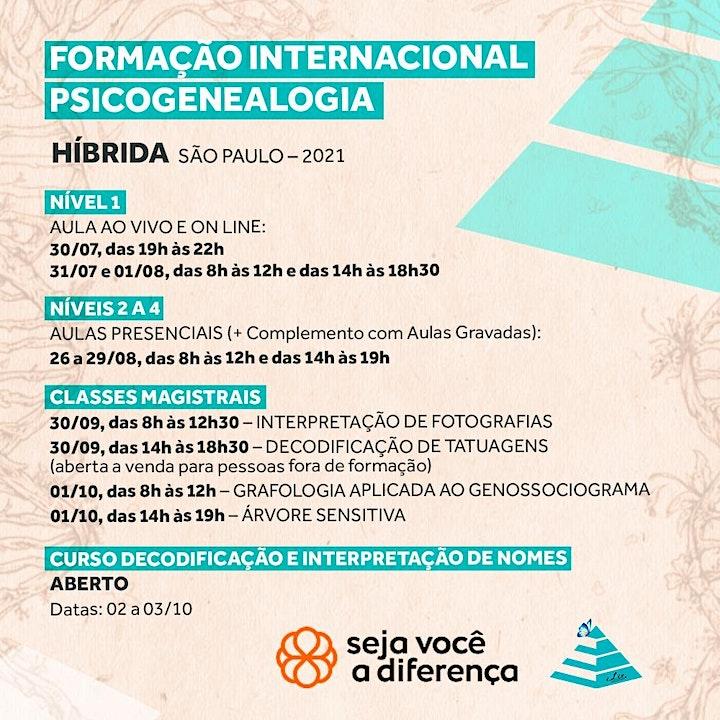 Imagem do evento FORMAÇÃO INTERNACIONAL PSICOGENEALOGIA EVOLUTIVA -  SÃO PAULO (HÍBRIDA)