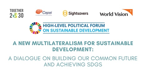 A New Multilateralism for Sustainable Development: A dialogue on building o tickets