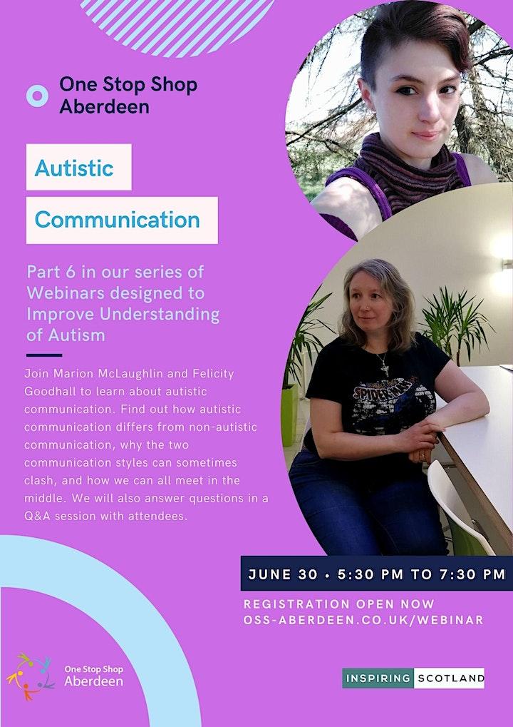 Autistic Communication Webinar - Understanding Autism Series image