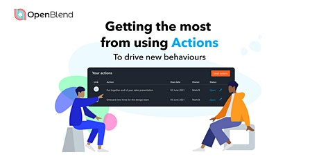 Getting the most from using Actions to drive new behaviours tickets