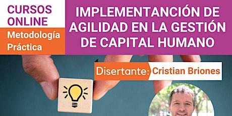 Taller: Implementación de Agilidad en la Gestión de Capital Humano entradas