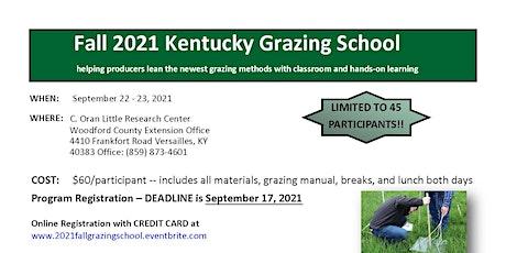 Fall 2021 Grazing School tickets
