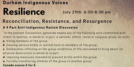 Durham Indigenous Voices - Resilience tickets