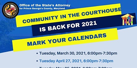COMMUNITY IN THE COURTHOUSE 2021 - Virtual tickets