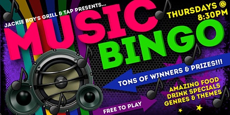 Thursday Music Bingo at Jackie Boy's Grill & Tap tickets