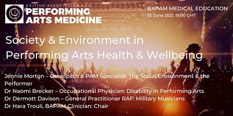 Society & Environment in Performing Arts Health & Wellbeing tickets