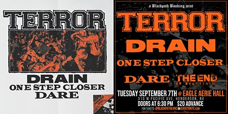Terror with Drain, One Step Closer and Dare tickets