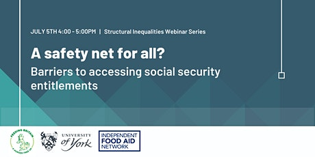 A safety net for all?  Barriers to accessing social security entitlements tickets