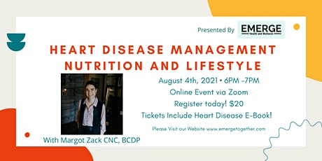Heart Disease Management - Nutrition and Lifestyle tickets