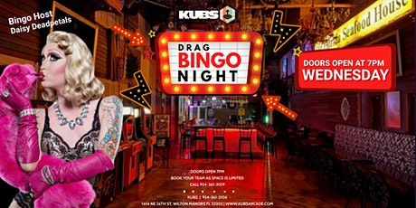 Drag Bingo at KUBS every WEDNESDAY tickets