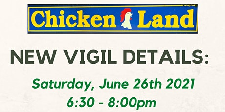 UPDATED Drop-In Candlelight Vigil for the Chickenland Family tickets