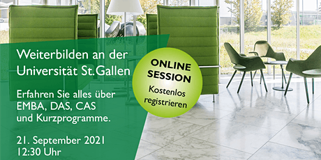 Online Info Event: Executive Education – University of St.Gallen tickets