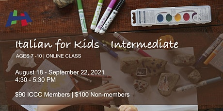 Intermediate Italian For Kids - Ages 7 -10 tickets