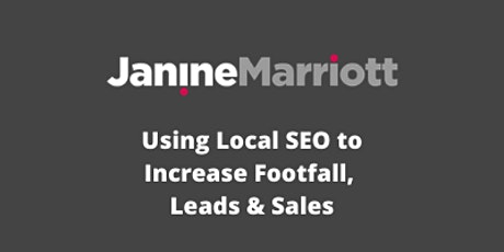 30 Day Plan to Increase your Digital Presence in Local Search Results tickets