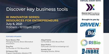 RI Innovator Series:  Resources for Entrepreneurs tickets
